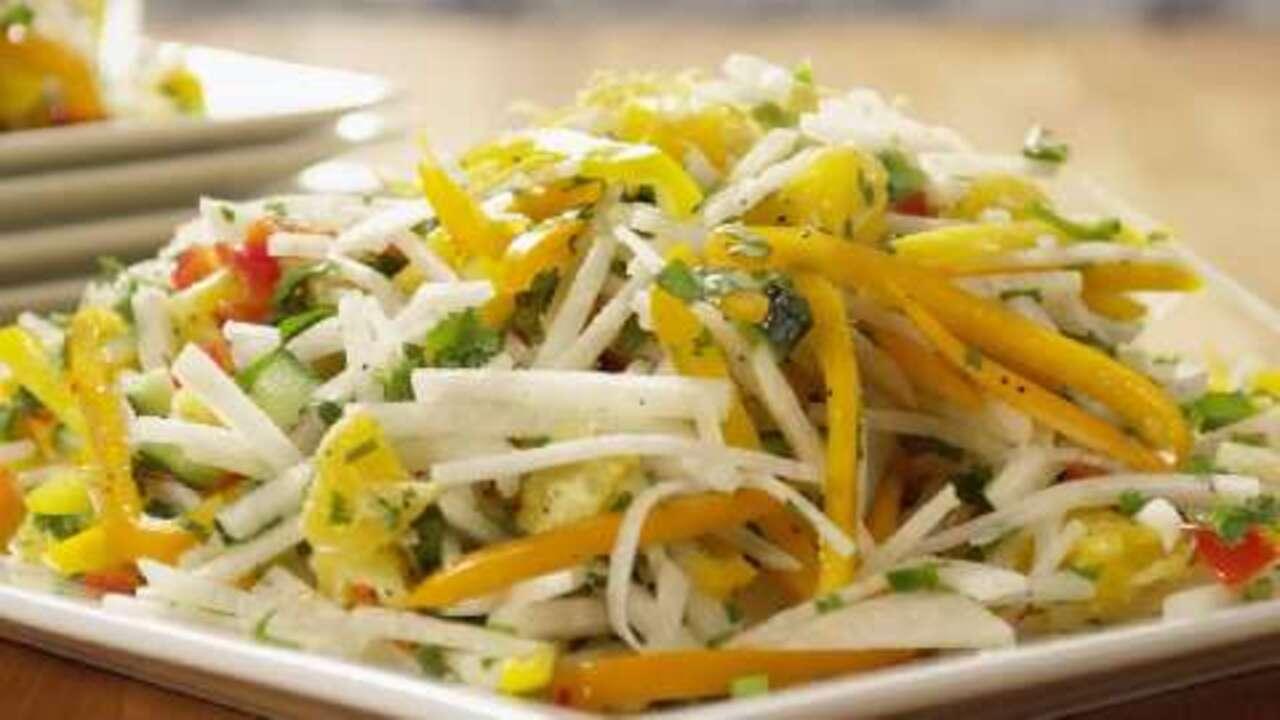 sweet and spicy jicama salad video