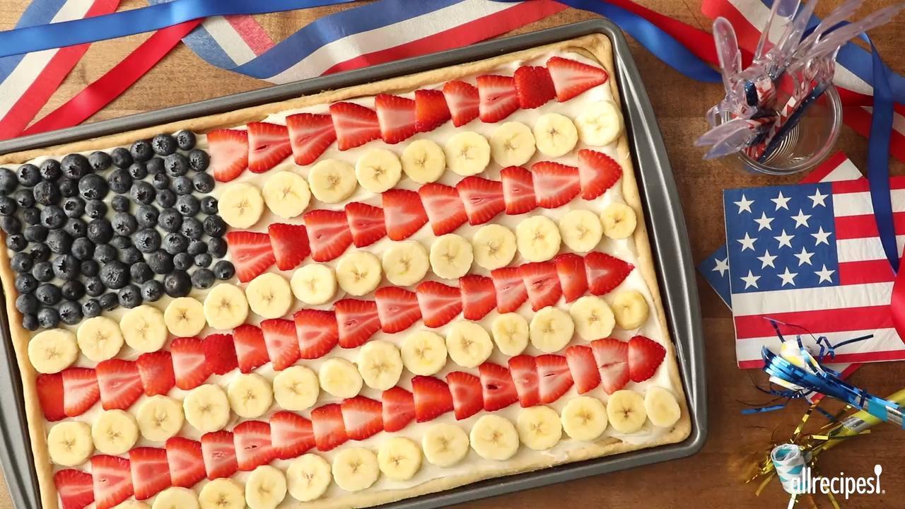 patriotic fruit pizza video