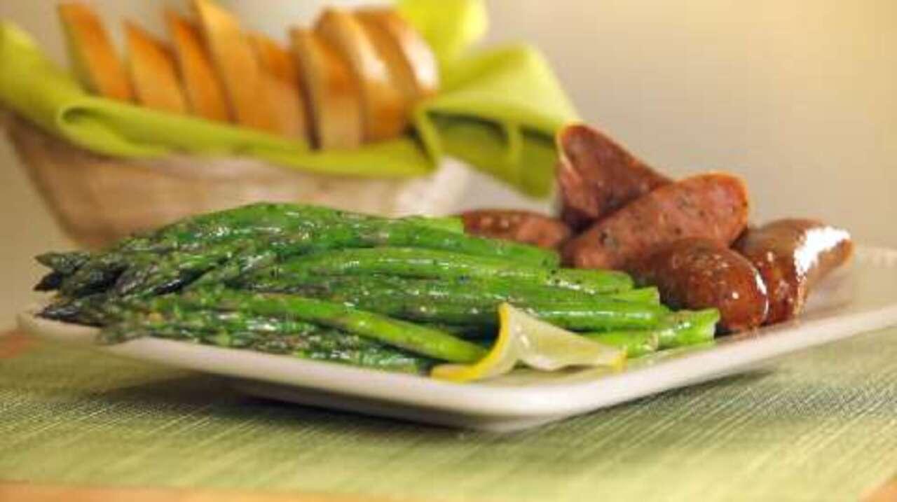 pan fried asparagus video