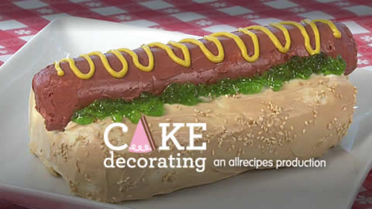 how to make a hot dog cake video