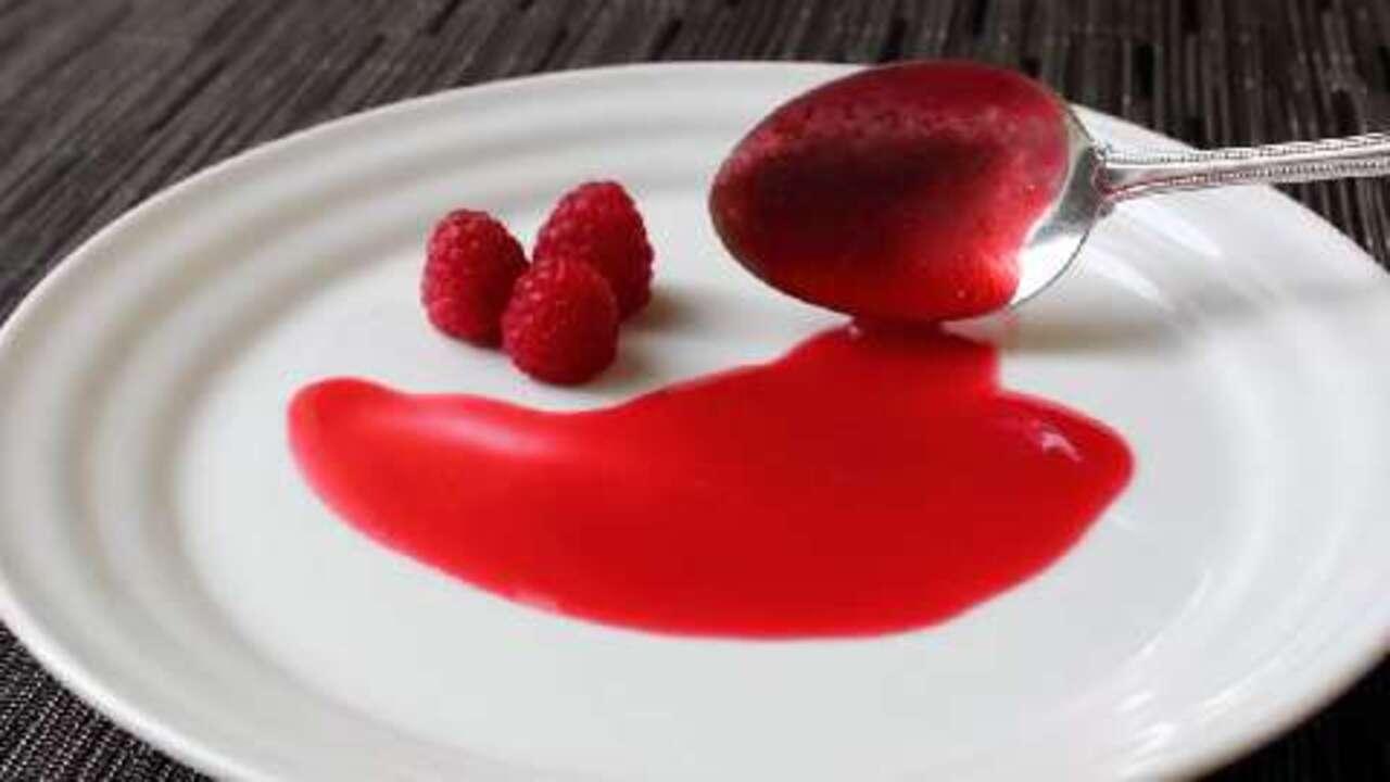 chef johns fresh raspberry sauce video