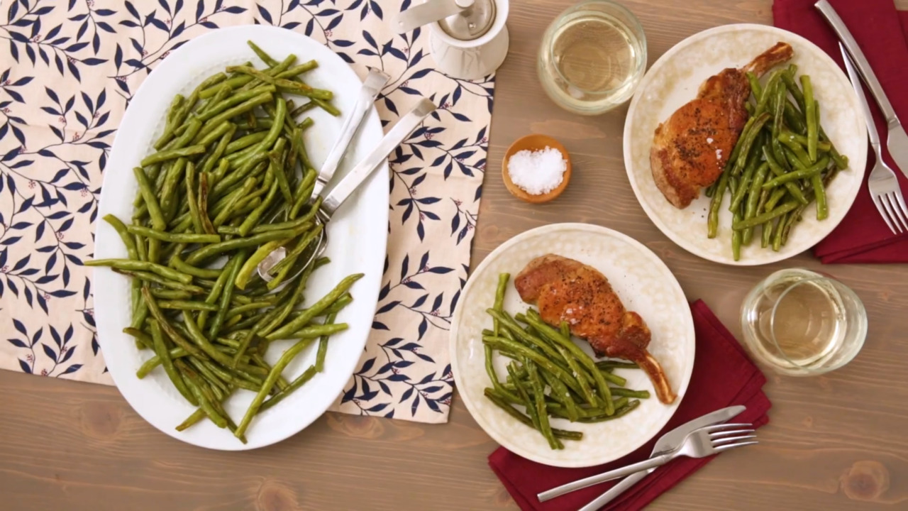 roasted green beans video