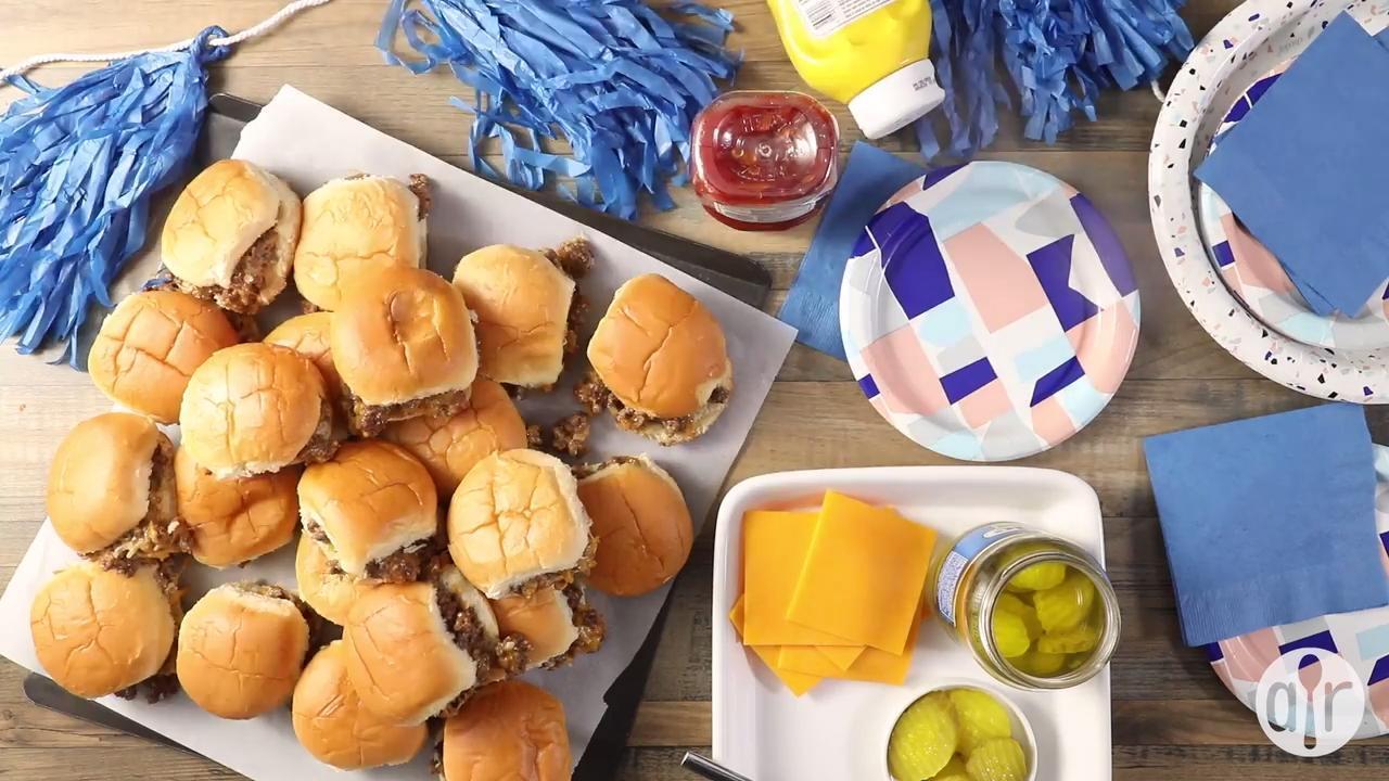 slider style mini burgers video