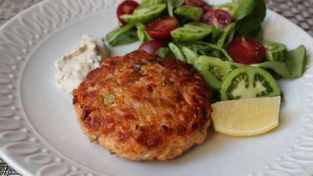Chef John S Fresh Salmon Cakes Video Allrecipes Com