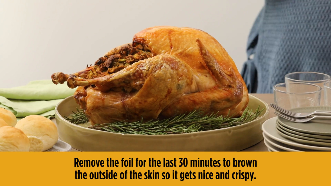 easy beginners turkey with stuffing video