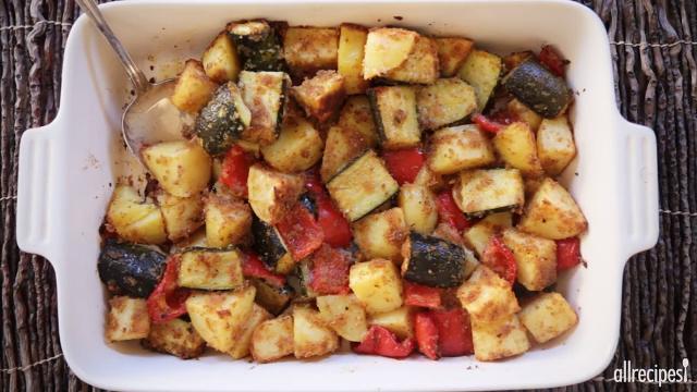 zucchini and potato bake video