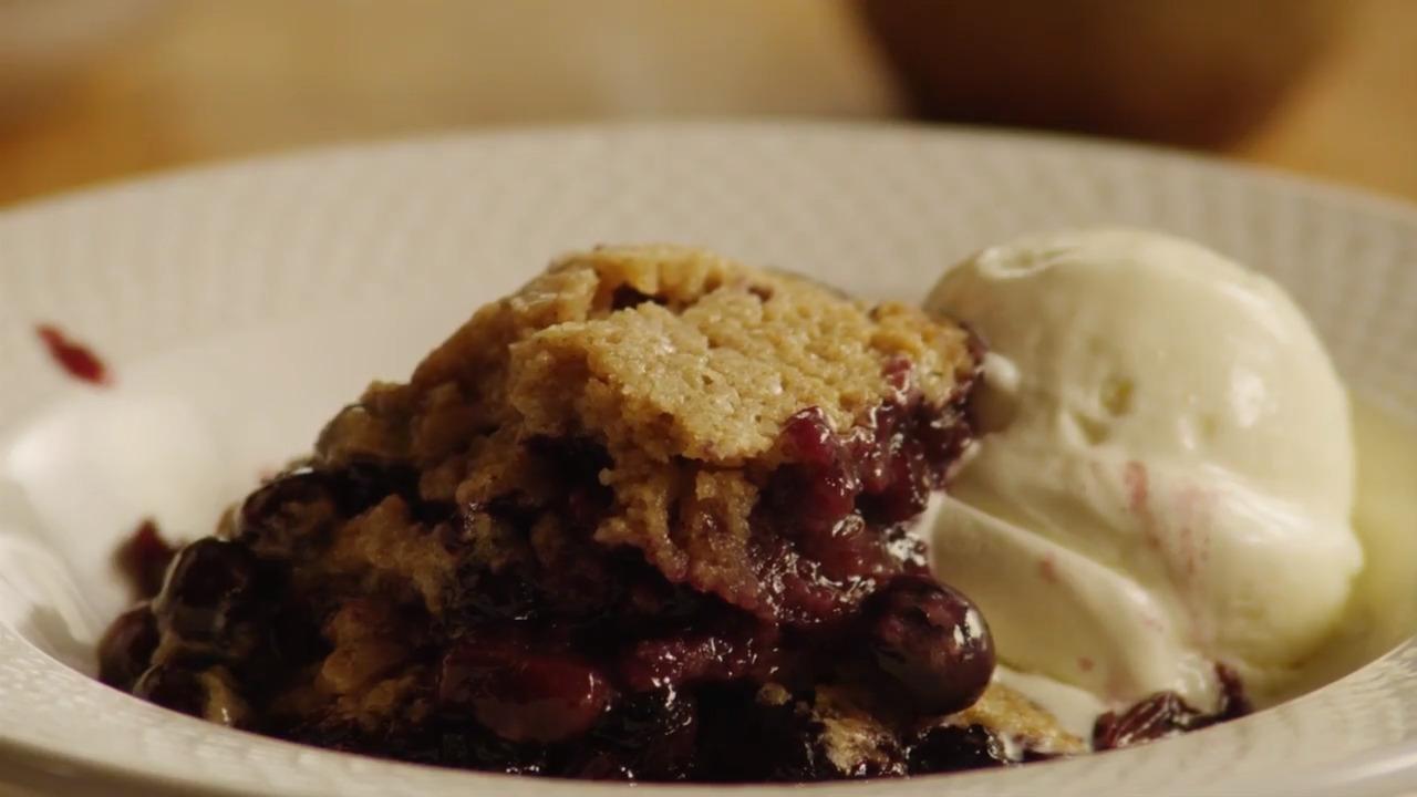 best ever blueberry cobbler video