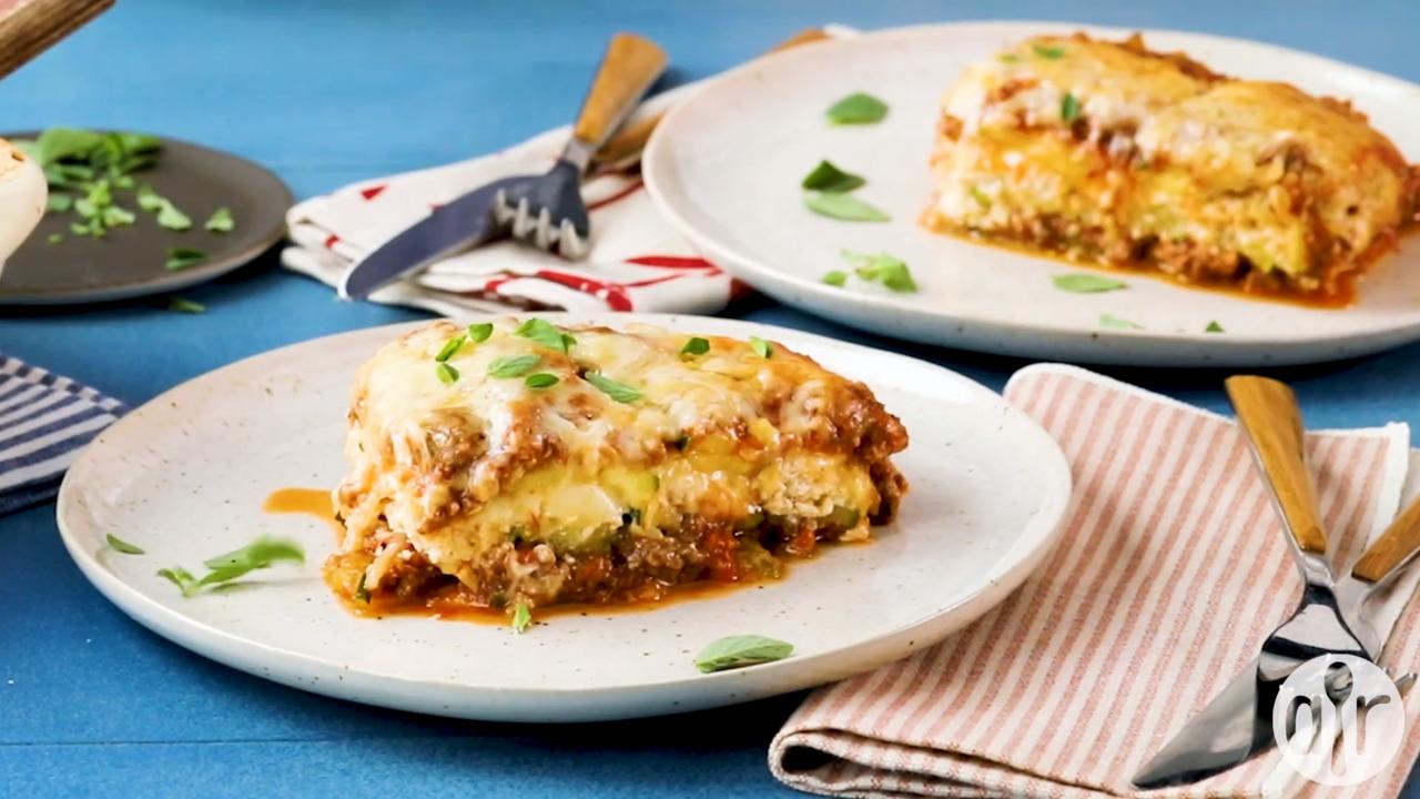 ultimate low carb zucchini lasagna video