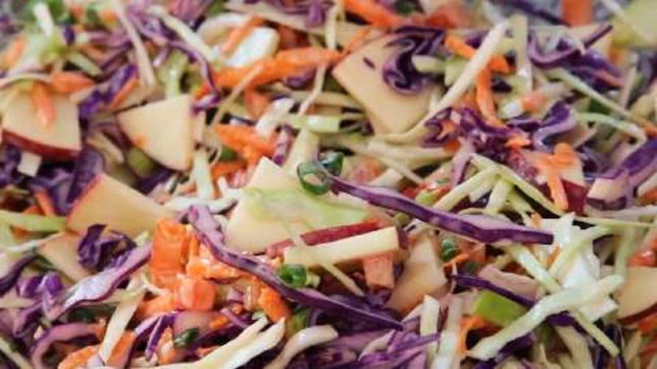 apple coleslaw video