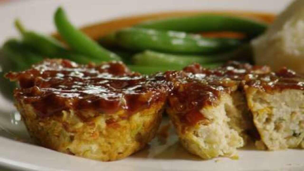 turkey veggie meatloaf cups video