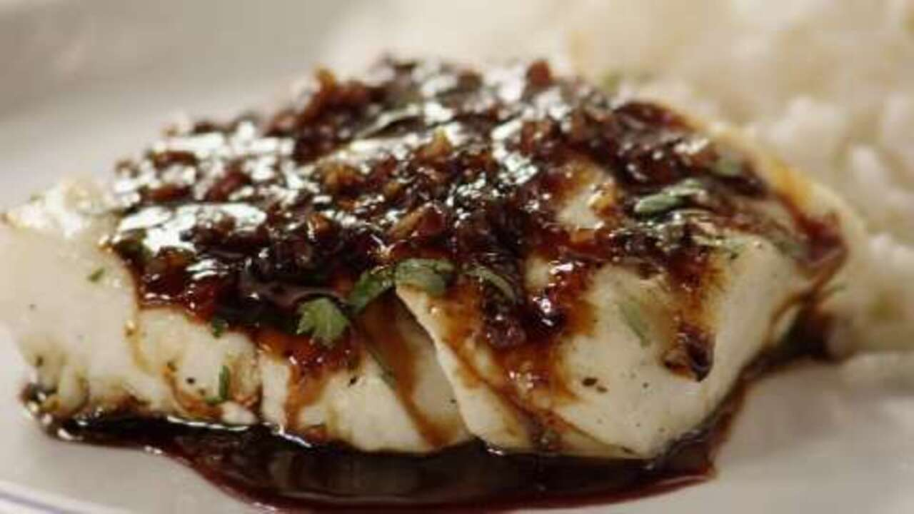 halibut with rice wine video