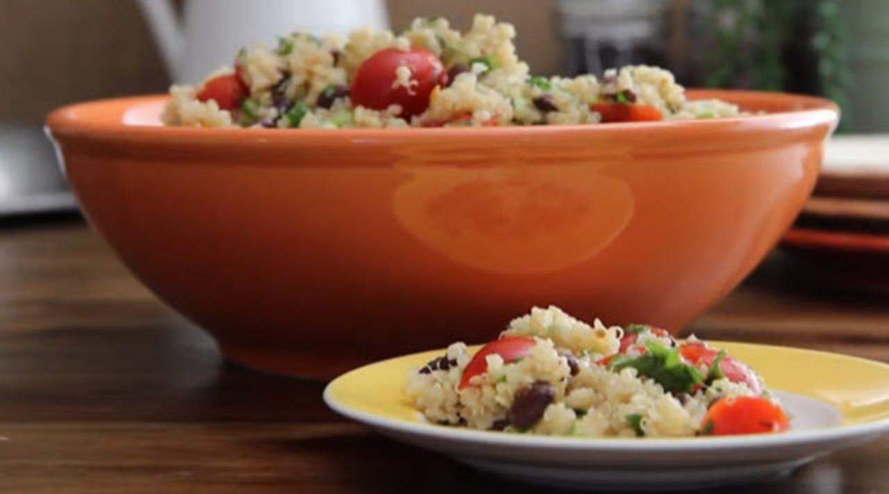 zesty quinoa salad video