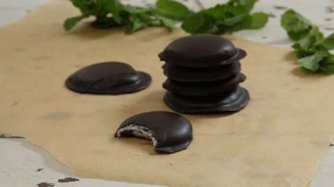chocolate covered peppermint patties video