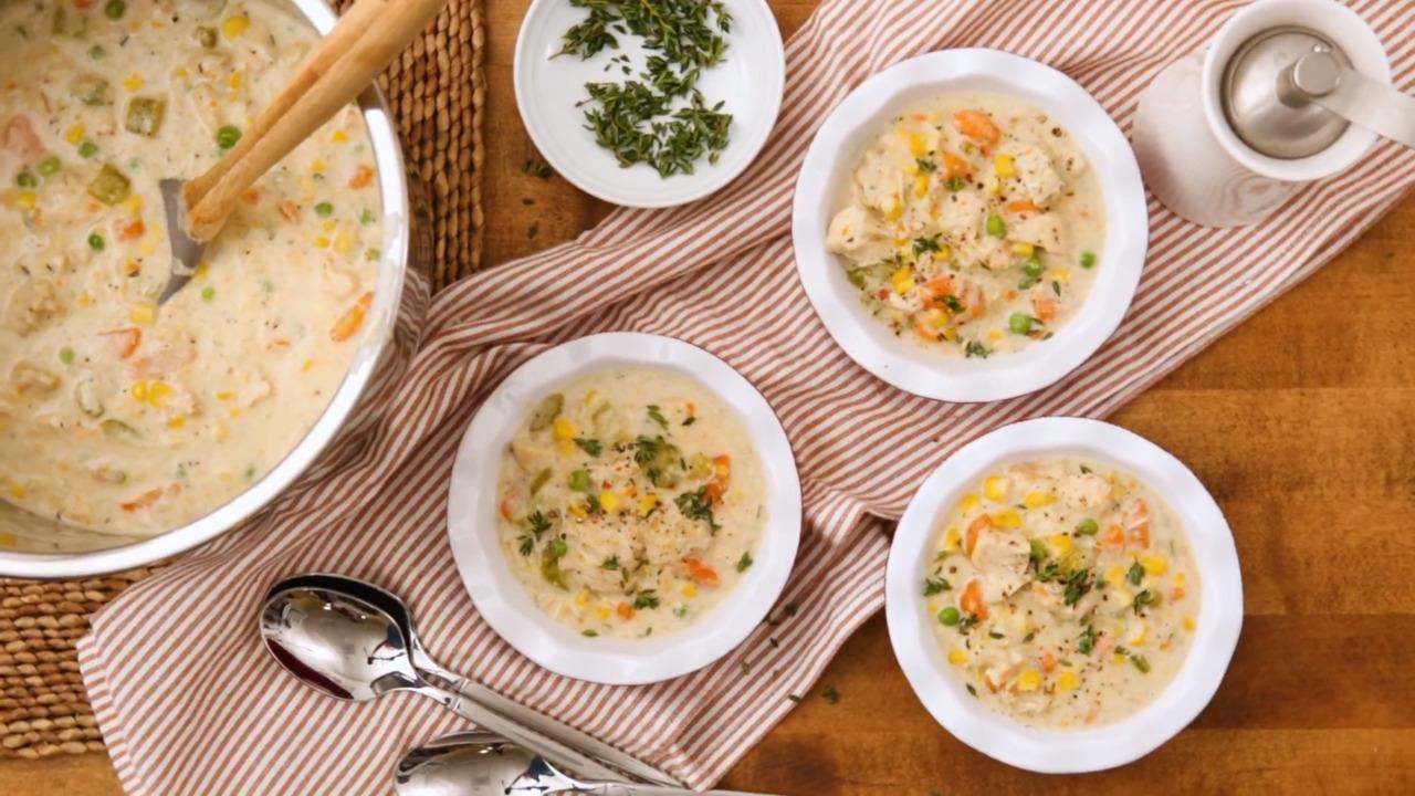 instant pot chicken pot pie crustless and gluten free video