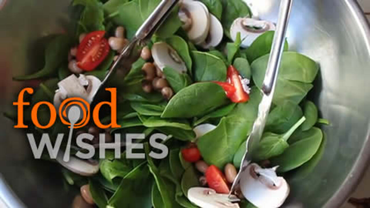 spinach salad with hot bacon dressing video