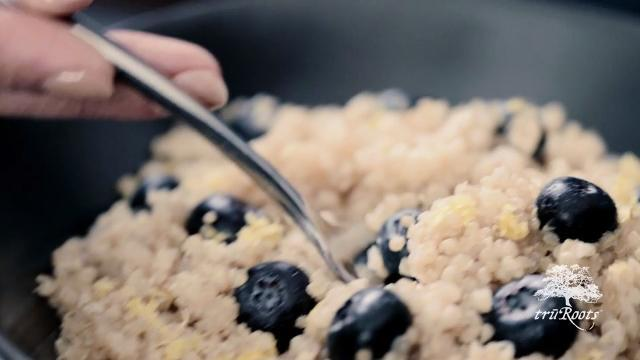 blueberry lemon sprouted rice and quinoa cereal video