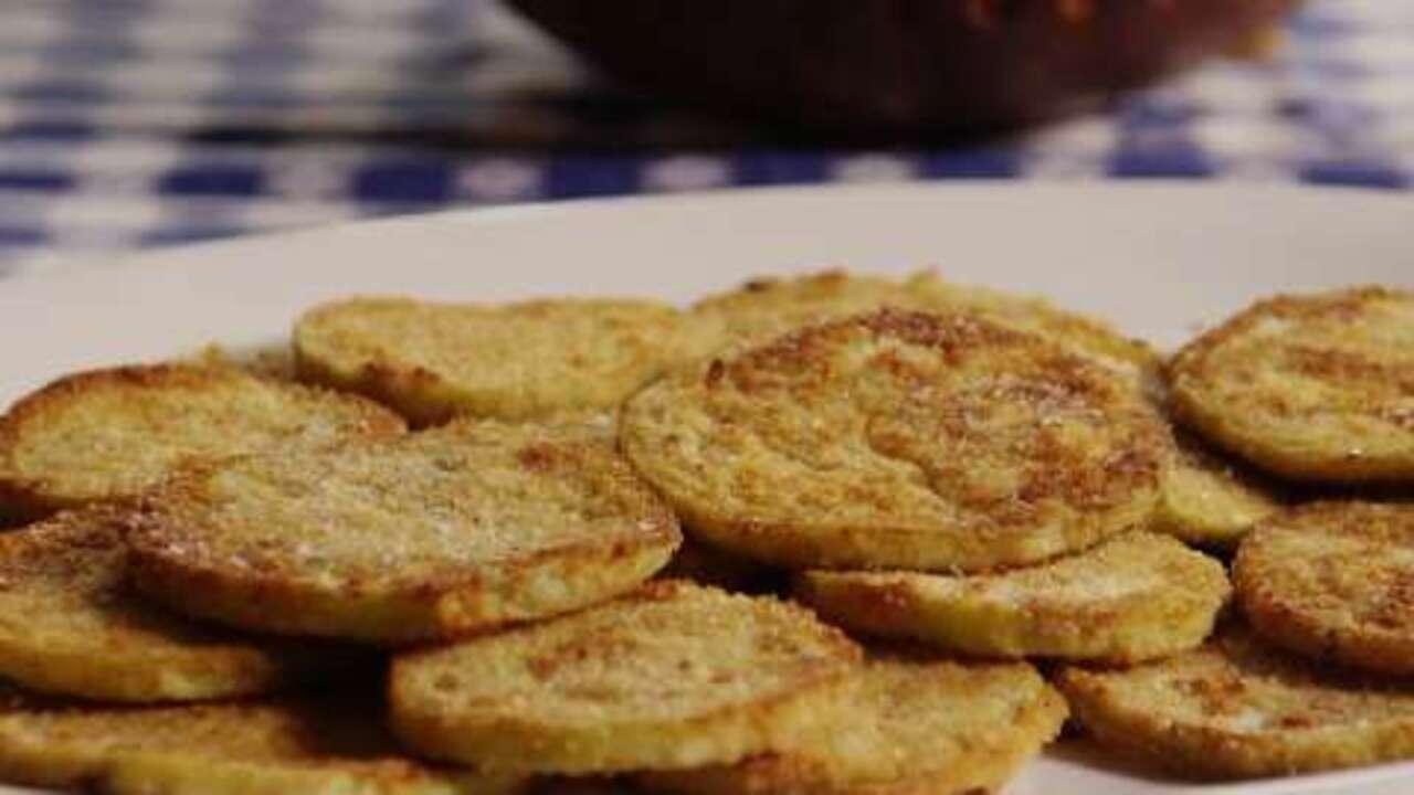 easy fried eggplant video