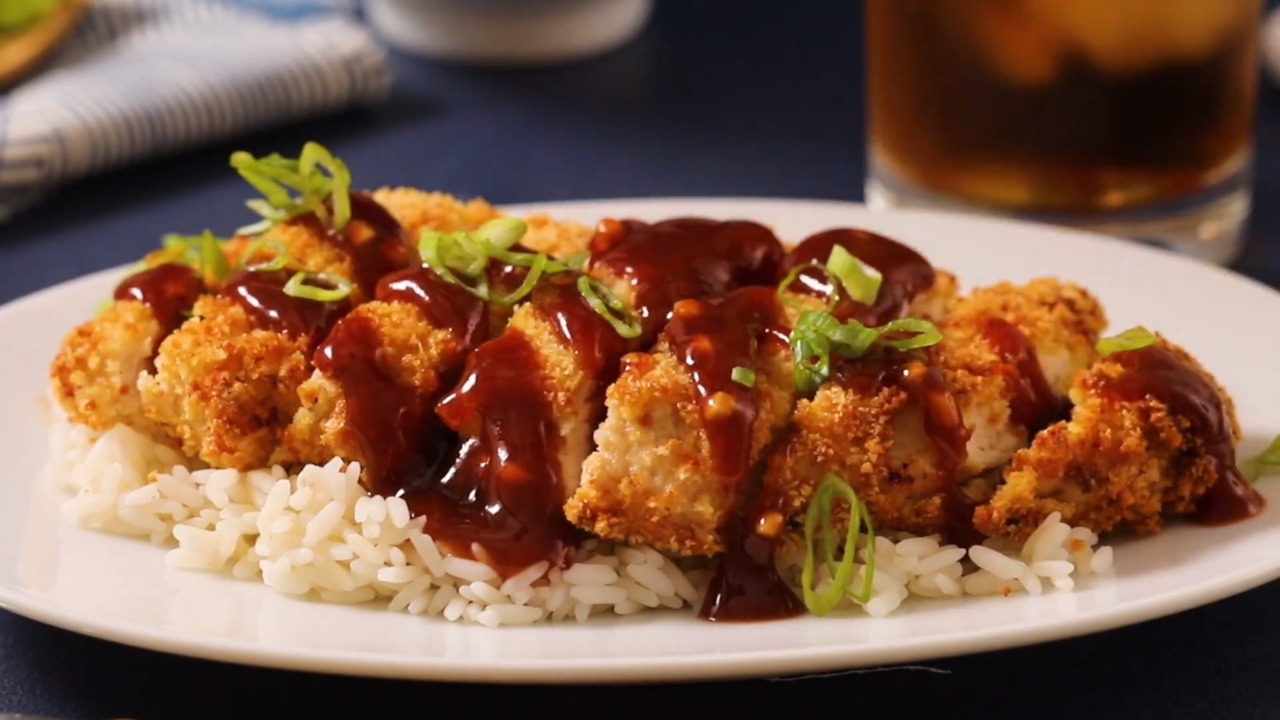 air fryer chicken katsu with homemade katsu sauce video