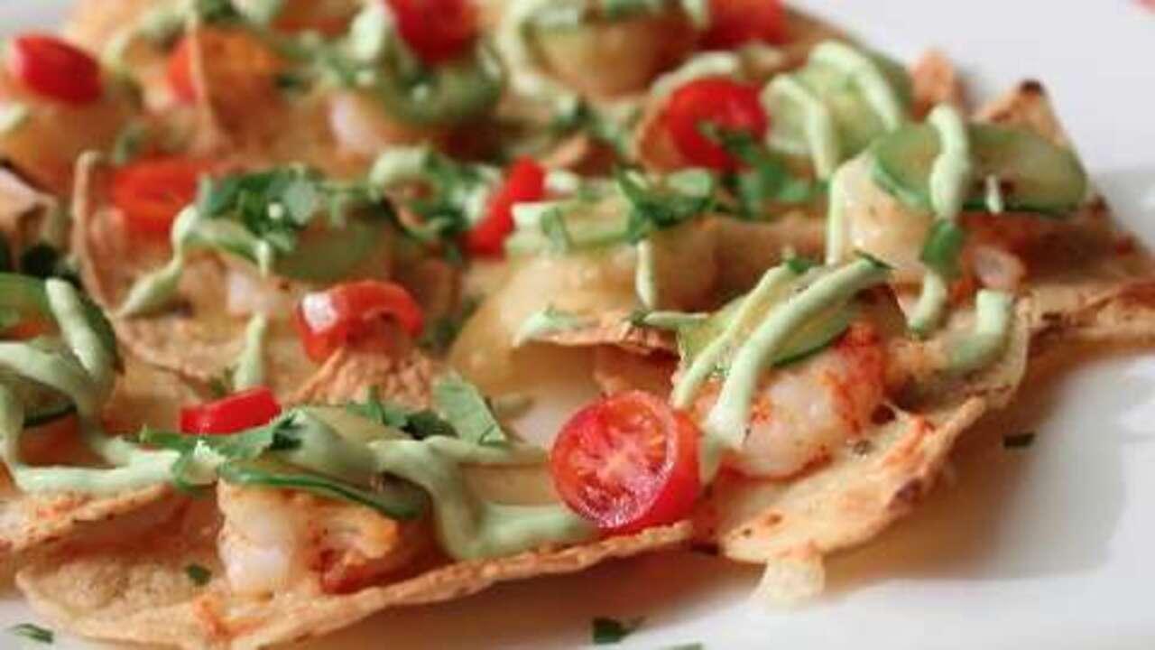 shrimp and jalapeno nachos video