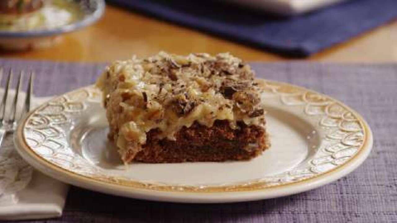 german sweet chocolate cake video