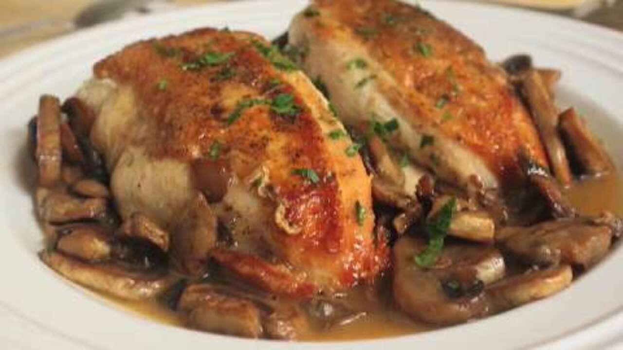 chef johns chicken and mushrooms video