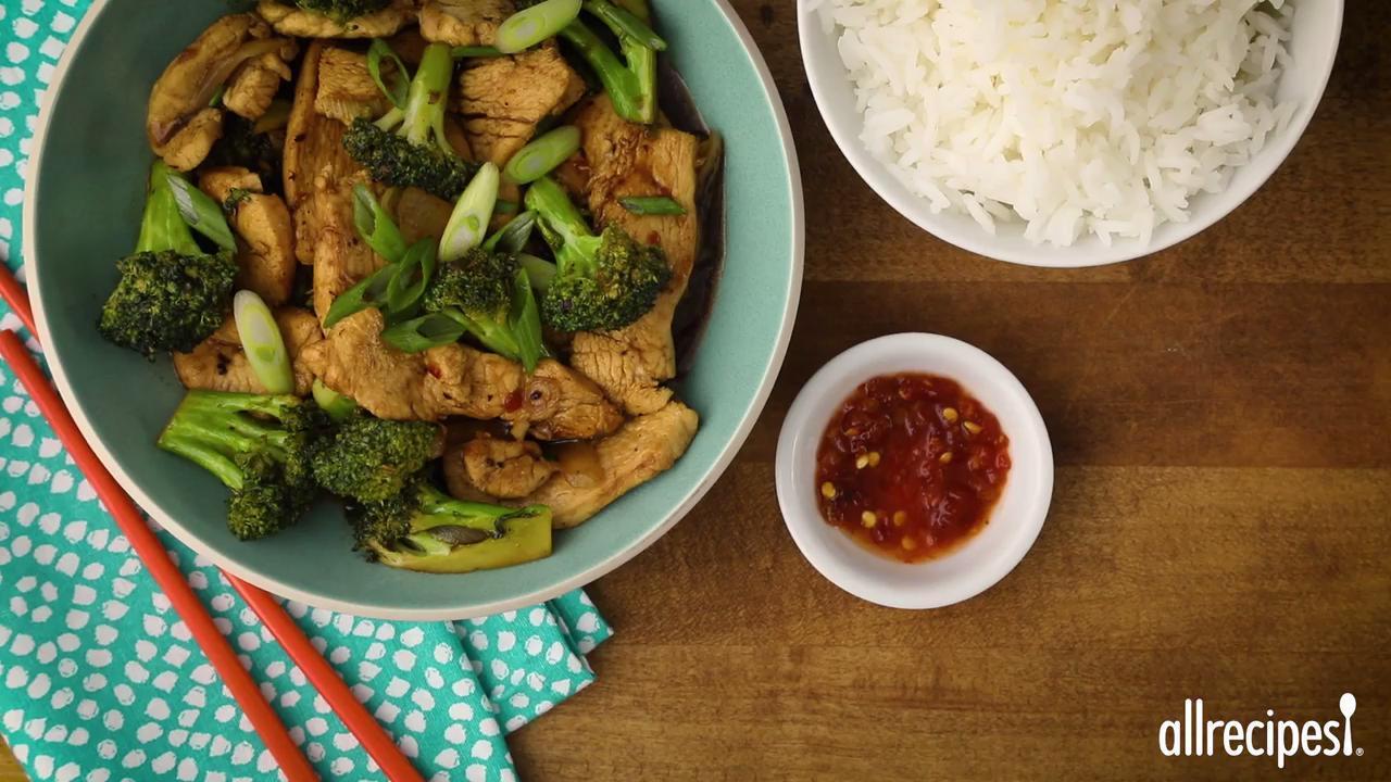 stir fry chicken and broccoli video