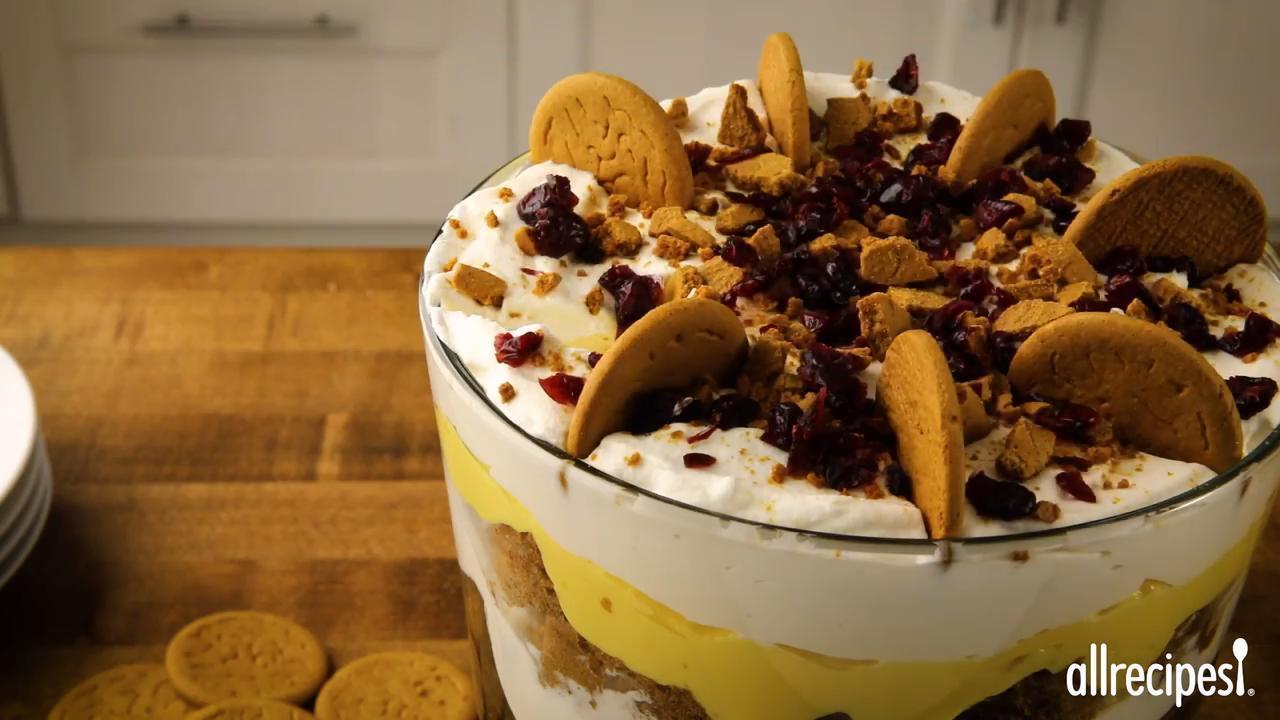 eggnog gingerbread trifle video