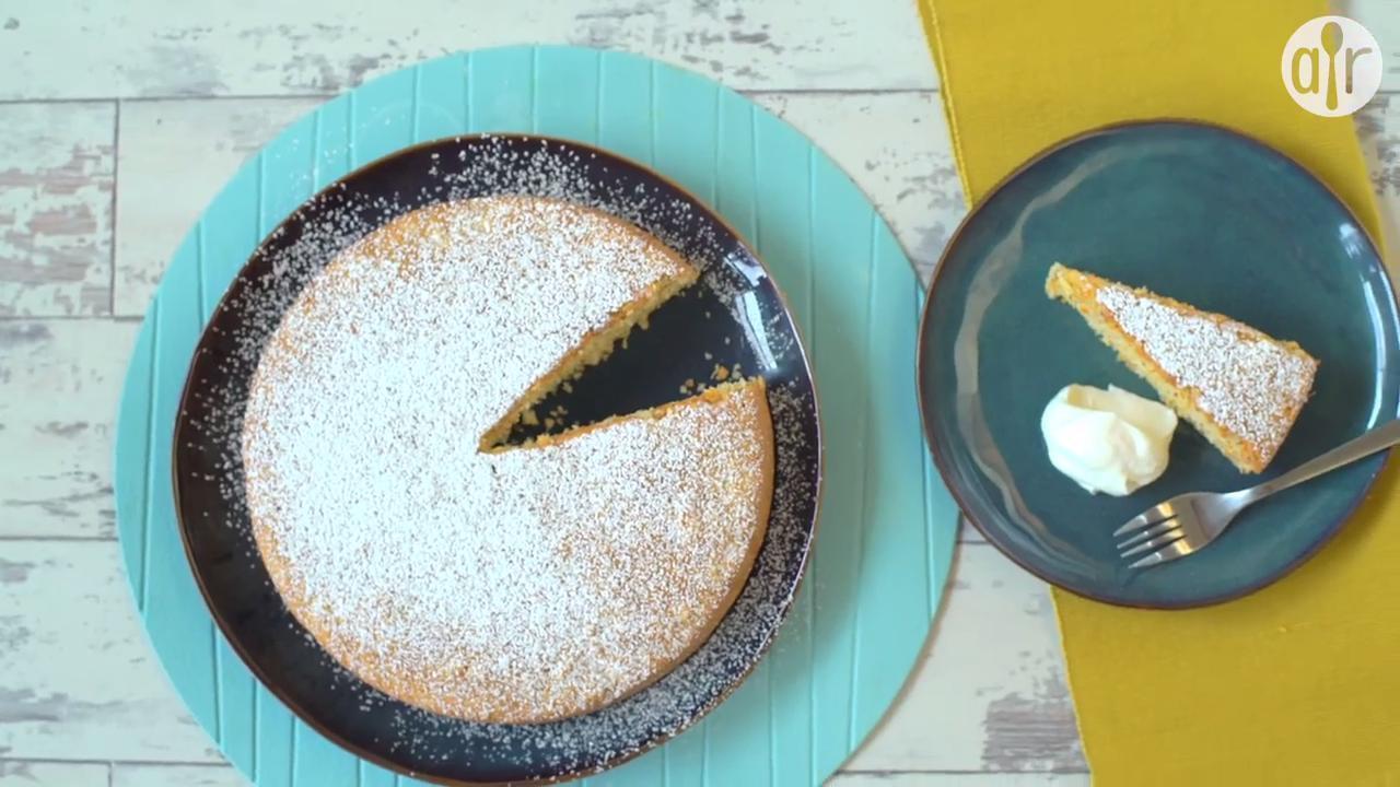 semolina almond orange cake video