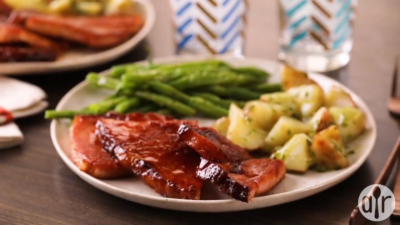 brown sugar ham steak video