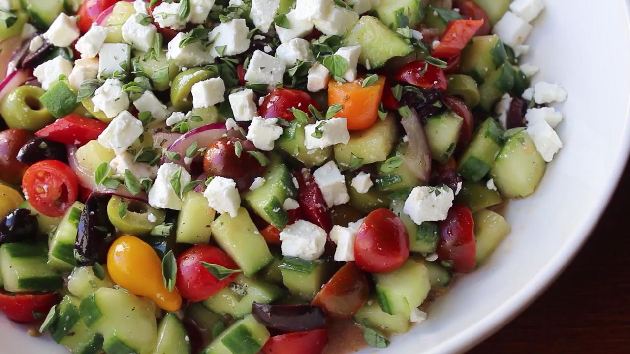my big fat greek salad video