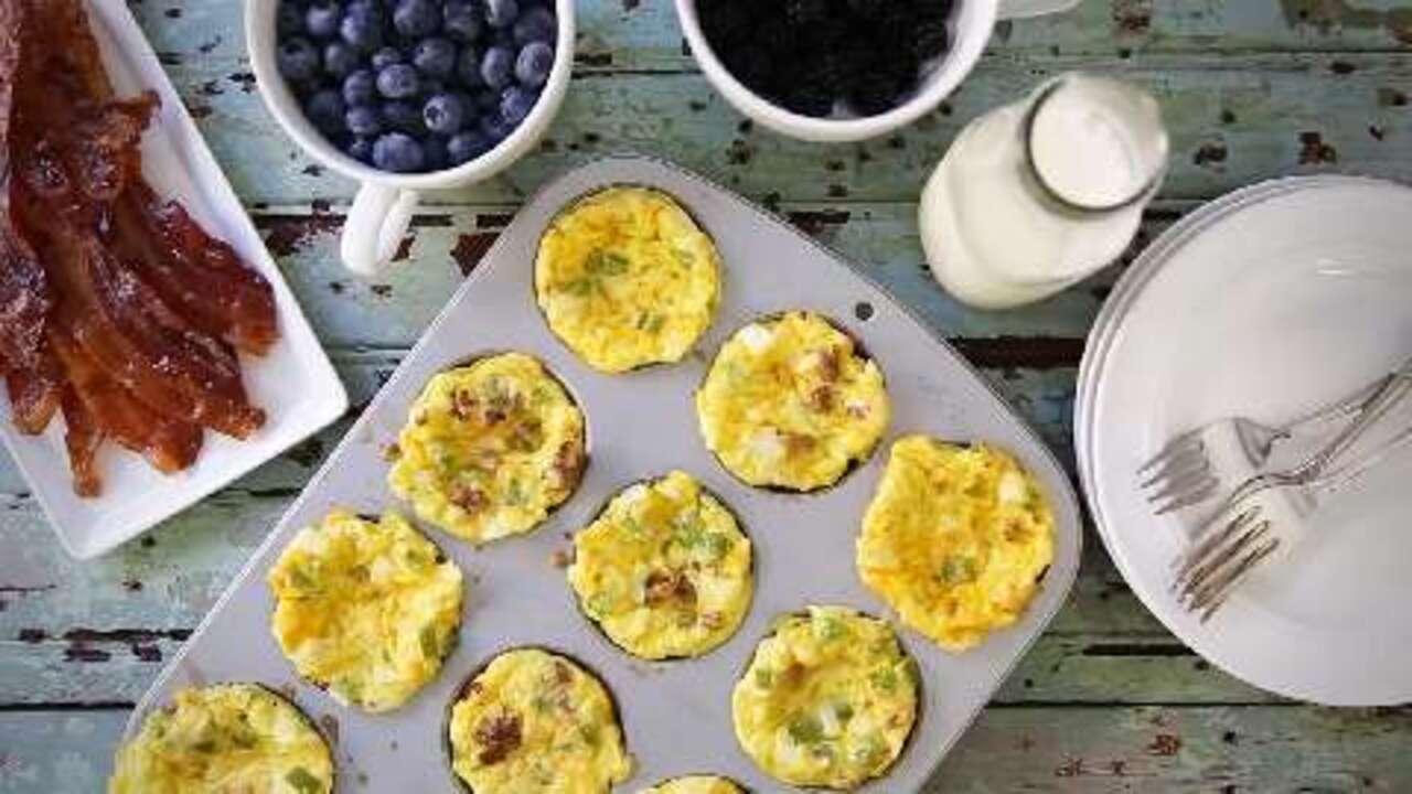 scrambled egg muffins video
