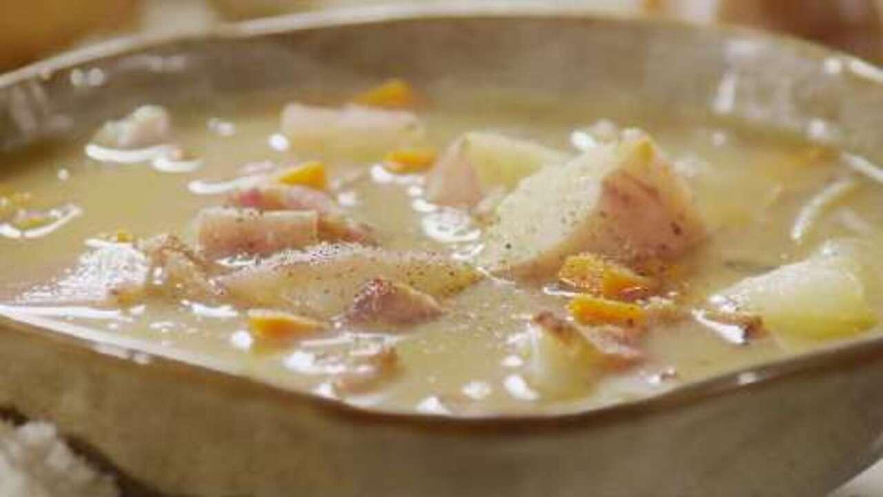 bacon and potato soup video