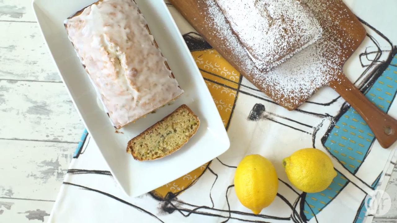 lemon pistachio zucchini bread video