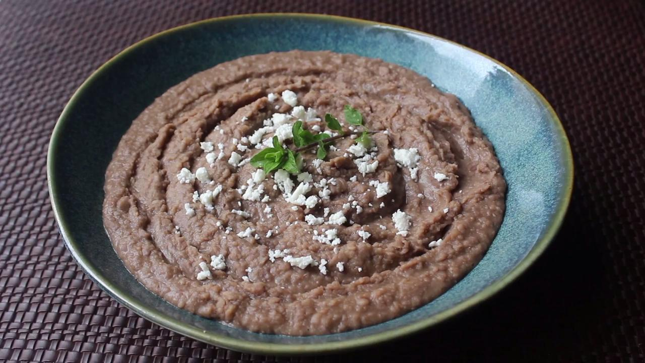 chef johns refried beans video