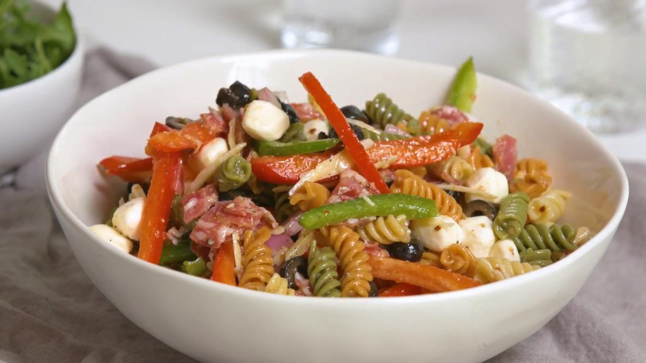 quick italian pasta salad video