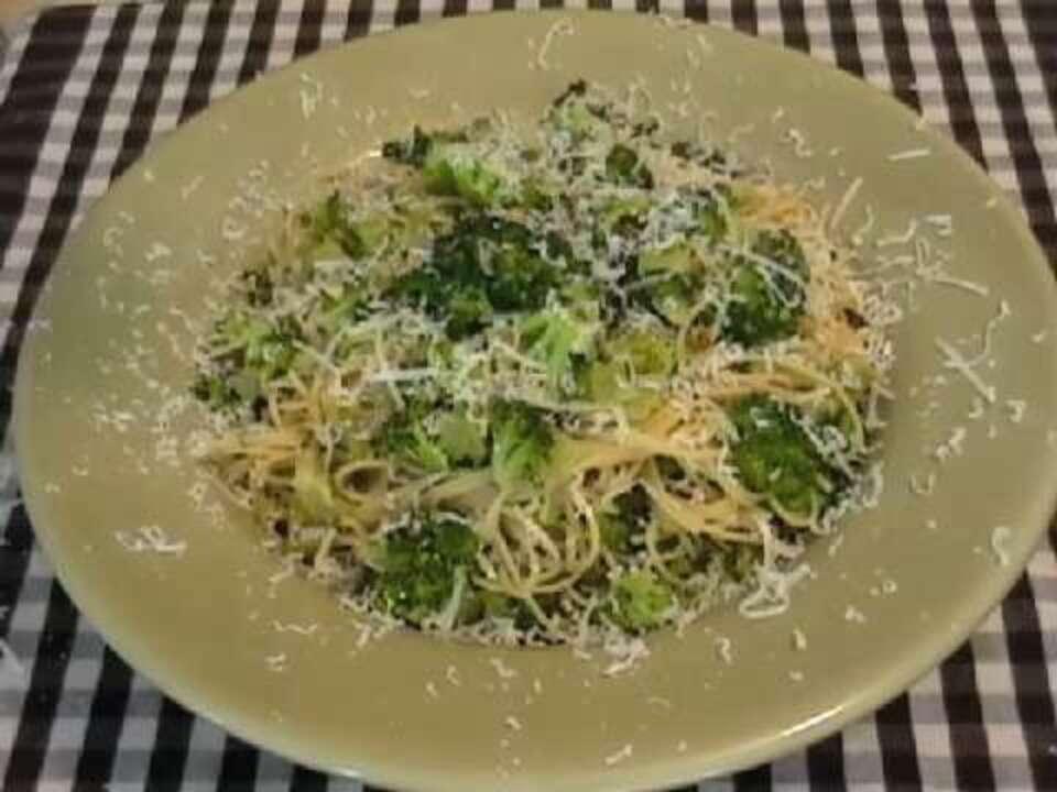 Broccoli Garlic Angel Hair Pasta Video - Allrecipescom-3019