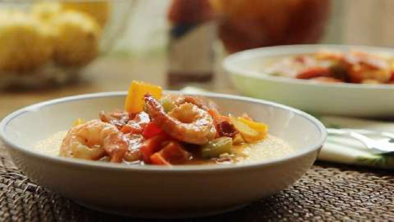 old charleston style shrimp and grits video