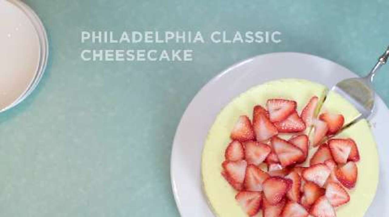 philadelphia classic cheesecake video