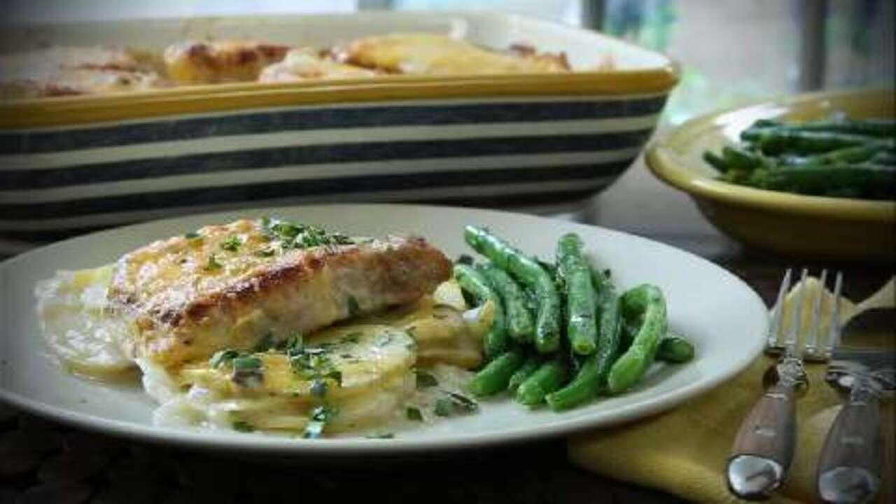pork chop and potato casserole video