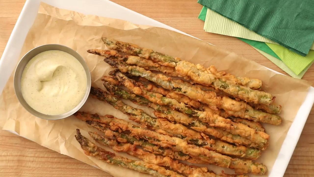 Fried Asparagus Sticks Video