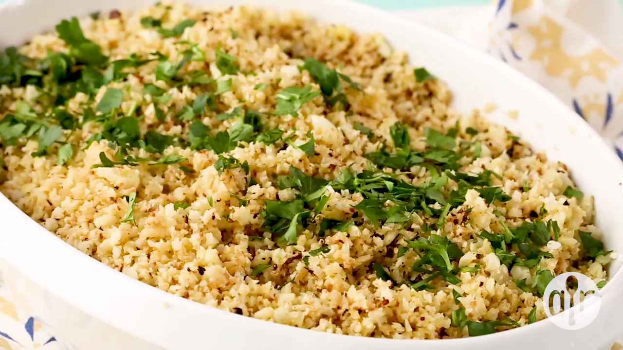 roasted cauliflower rice video