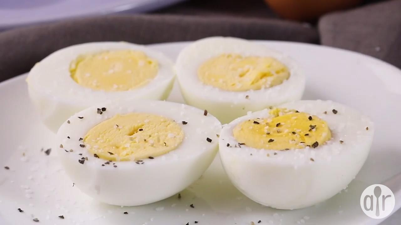 pressure cooker hard boiled eggs video
