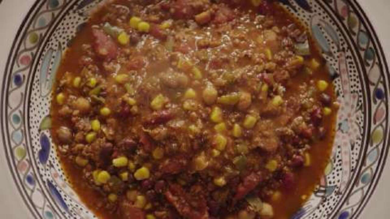 the best vegetarian chili in the world video