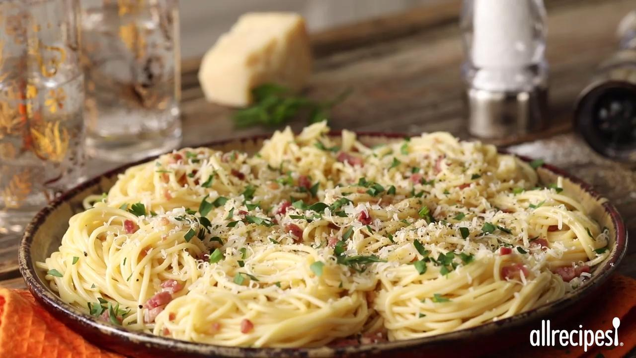 Spaghetti Alla Carbonara The Traditional Italian Recipe Recipe