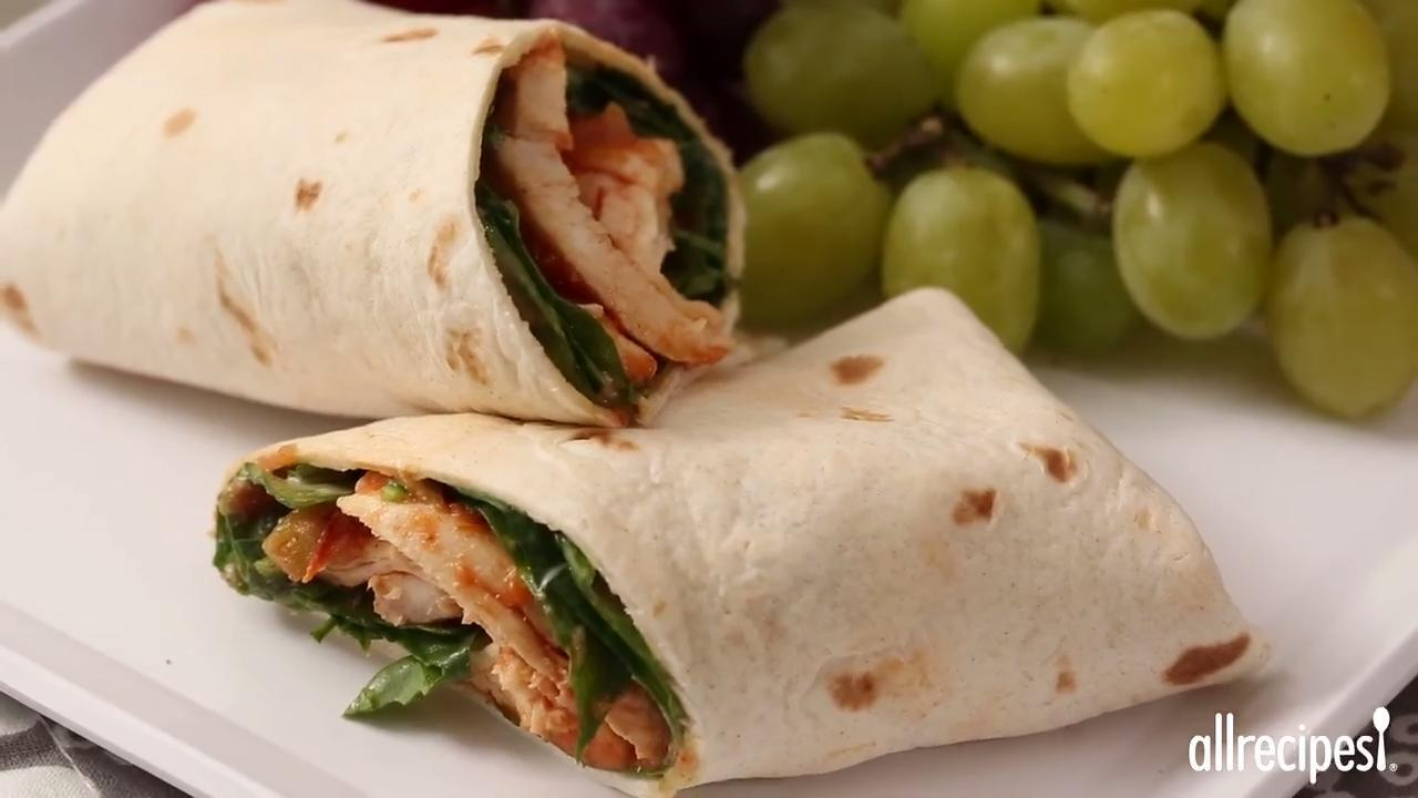 simple sweet and spicy chicken wraps video