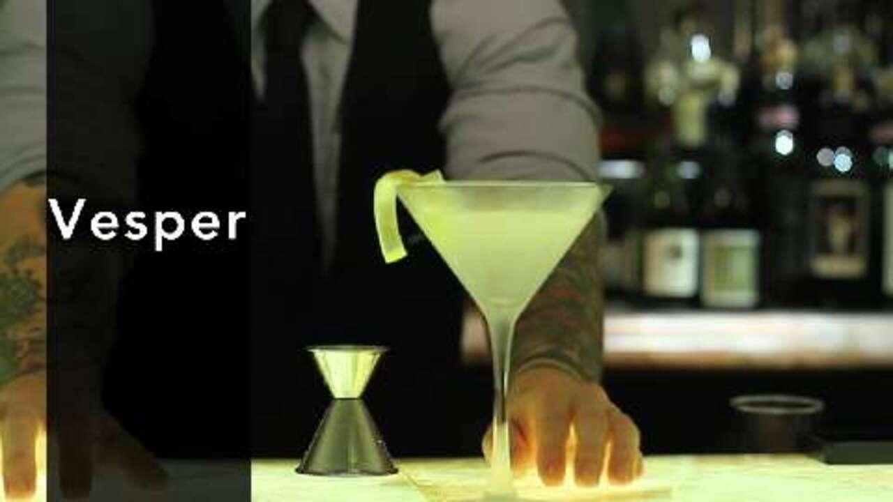 vesper cocktail video
