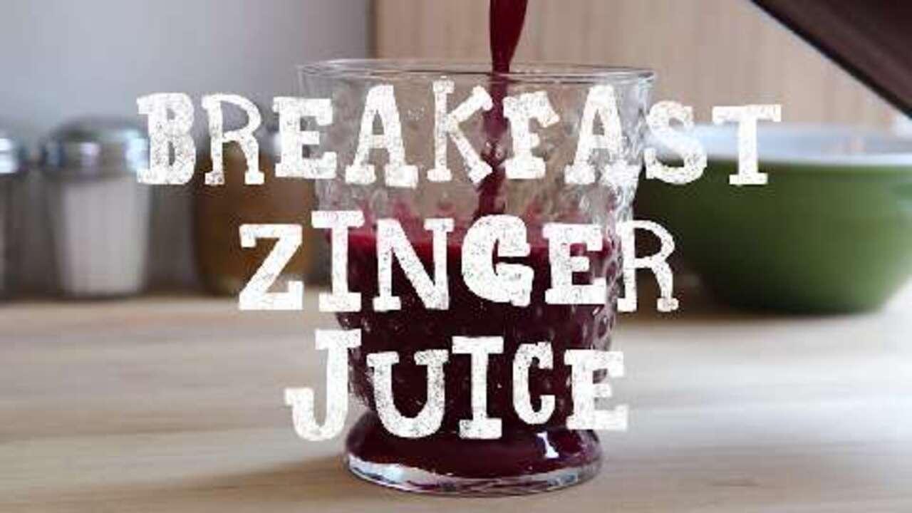 breakfast zinger juice video