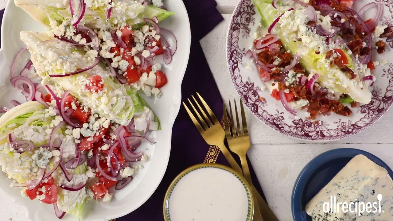 wedge salad with elegant blue cheese dressing video