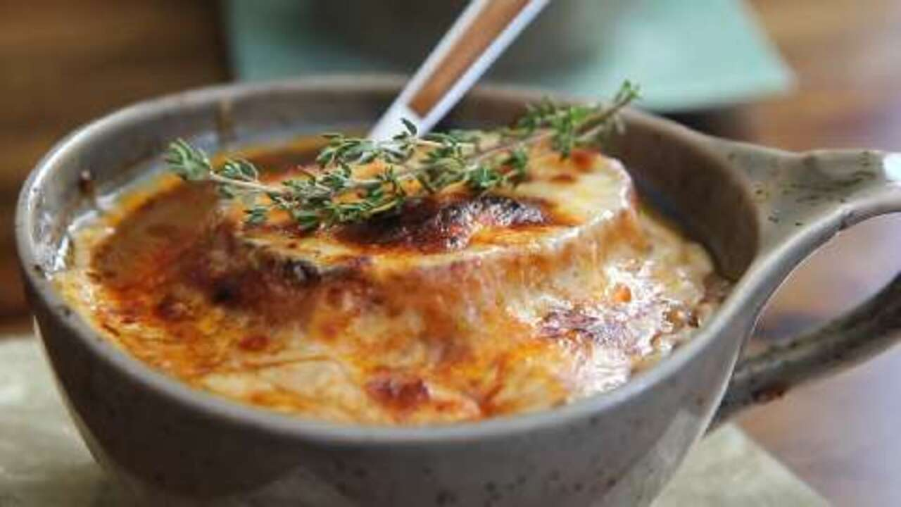 french onion soup gratinee video