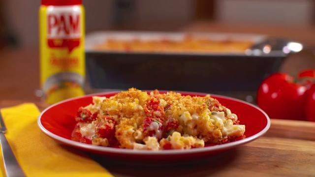 caprese macaroni and cheese video